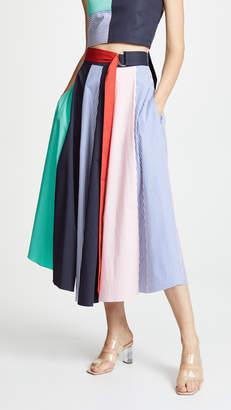 Tibi Tie Skirt