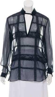 Valentino Silk Lace Top