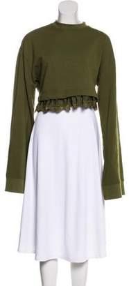 FENTY PUMA by Rihanna Lace-Accented Long Sleeve Sweatshirt
