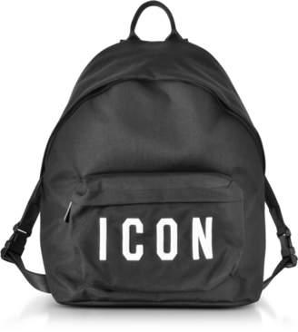 DSQUARED2 Icon Black Nylon Medium Backpack