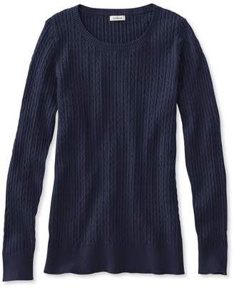 L.L. Bean L.L.Bean Classic Cable Sweater, Jewelneck