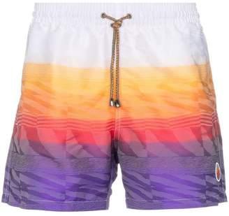 Missoni Mare logo patch printed swim shorts