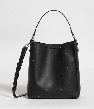 AllSaints Kathi Small North South Leather Tote