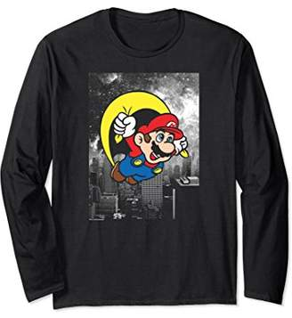 Nintendo Super Mario Parachute Flight City Long Sleeve Tee
