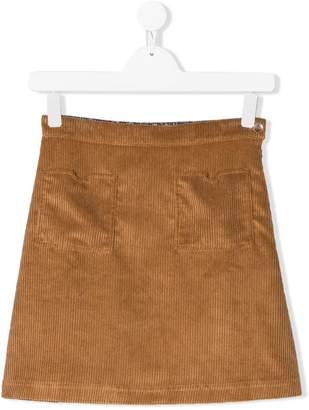 Caffe Caffe' D'orzo TEEN corduroy short skirt