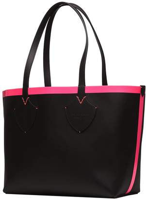 Burberry Reversible Tote In Black And Pink Fluo