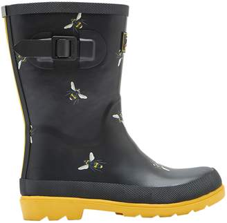 Next Girls Joules Black Bees Printed Welly