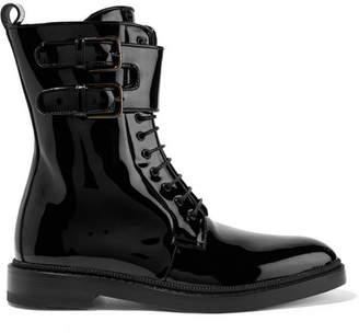 Paul Andrew Landrey Patent-leather Ankle Boots - Black