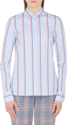 Akris Punto Stripe Cotton Blouse