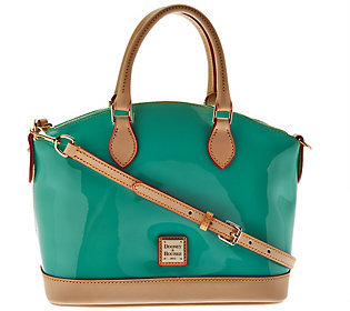 As Is Dooney & Bourke Patent Leather Domed Satchel $140 thestylecure.com