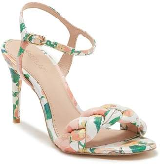 Rachel Zoe Kelly Printed Leather Ankle Strap Sandal