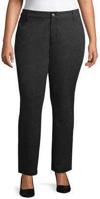 ST. JOHN'S BAY Straight Leg Ponte Pant - Plus