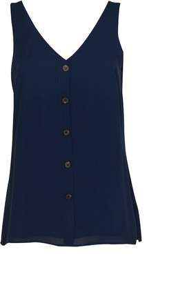 bdf0152094c45 WallisWallis Navy Button Through Camisole Top