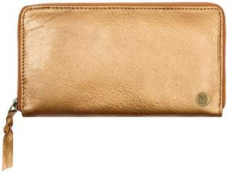 Mahi Leather Classic Las Purse In Metallic Bronze