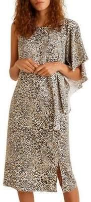 MANGO Leopard-Print Shift Dress