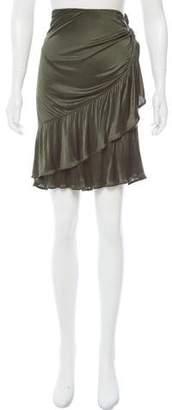 Saint Laurent Ruffle-Trimmed Knee-Length Skirt