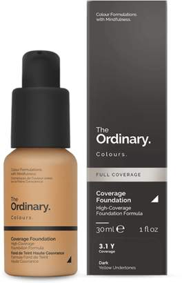 The Ordinary NEW Coverage Foundation (3.1 Y) 30ml Womens Makeup
