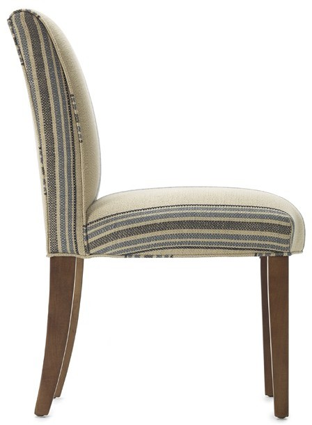 Williams-Sonoma Fitzgerald Upholstered Side Chair, Rustic Yacht Stripe