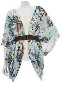 Couture Sure By Renee McCartney Renee's Reversible Jacket Top w/ Built-In Beltby Sure