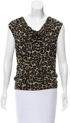 MICHAEL Michael Kors Sleeveless Cheetah Top