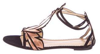 Charlotte Olympia Metallic Leaf Sandals