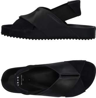Leather Crown Sandals - Item 11453604HL