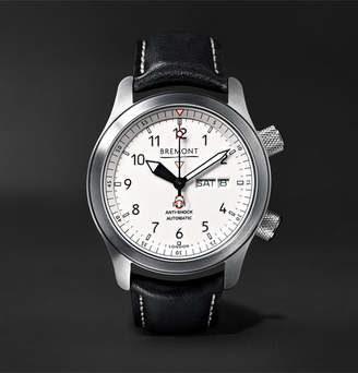 Mb Bremont Ii 43mm Stainless Steel And Leather Watch