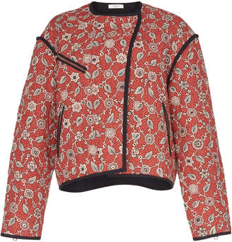 Etoile Isabel Marant Manae Printed Quilted Linen Jacket