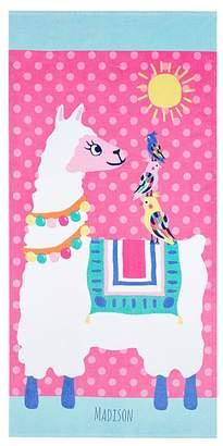 Pottery Barn Kids Llama Beach Towel