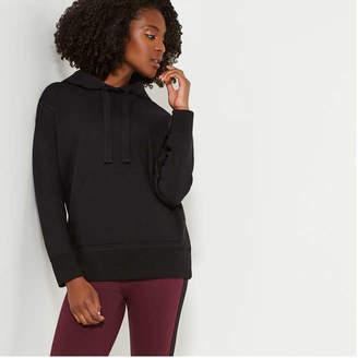 Joe Fresh Women's Ponte Hoodie, Black (Size XL)