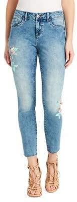 Jessica Simpson Kiss Me Painted Skinny Jeans