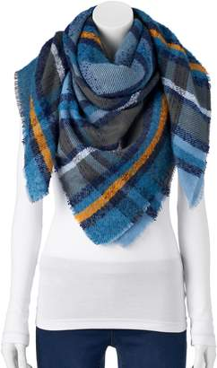 Apt. 9 Women's Boucle Plaid Blanket Square Scarf
