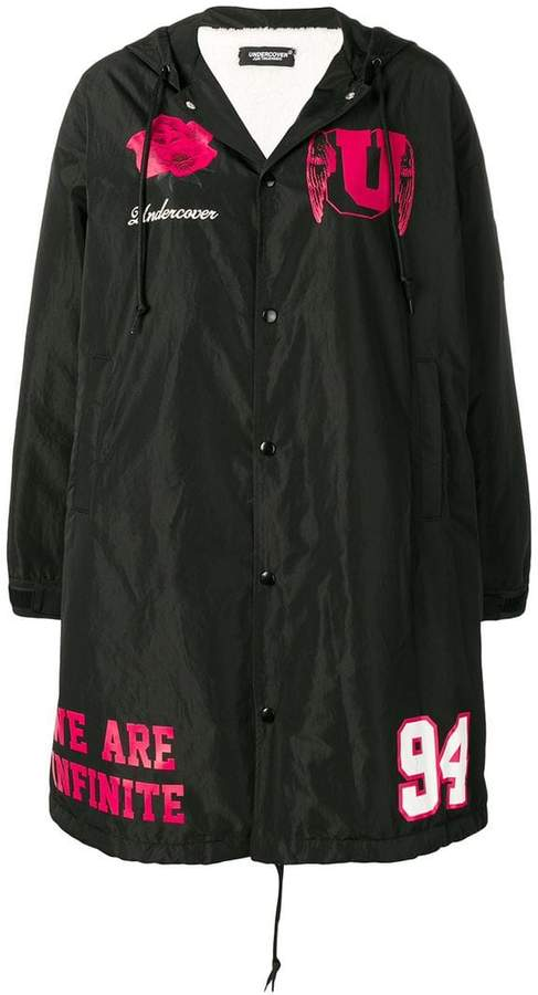 buttoned up raincoat