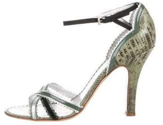 Prada Leather Ankle Strap Sandals