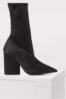 Yeezy Stretch satin high-heeled ankle boots
