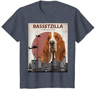 Bassetzilla Funny Basset Hound T-Shirt | Gift for Dog Lovers