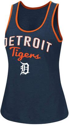 G-iii Sports Women Detroit Tigers Power Punch Glitter Tank