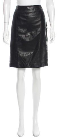 Ralph Lauren Leather Pencil Skirt