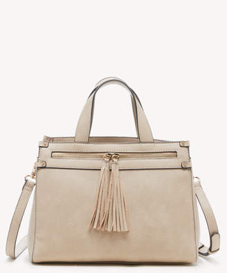 Sole Society Women's Zypa Satchel 3 Vegan Leather In Color: Light Taupe Bag From