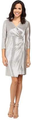 Tahari ASL Foil Knit Side Knot Dress Women's Dress