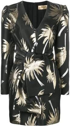 MSGM Palm tree structured dress