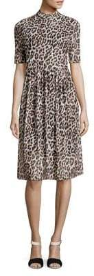 Vero Moda Leopard Print A-Line Dress