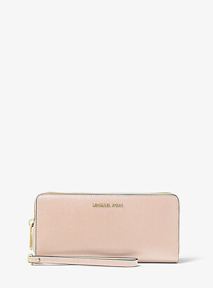 Michael Kors Jet Set Travel Leather Continental Wristlet