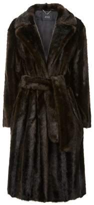 SET Faux Fur Wrap Coat