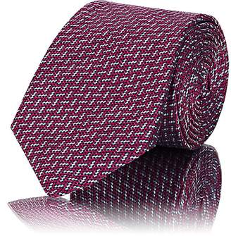 Barneys New York Men's Textured-Dot Silk Necktie