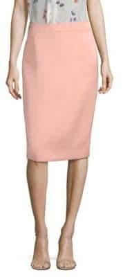 Escada Ravas Duchess Satin Pencil Skirt