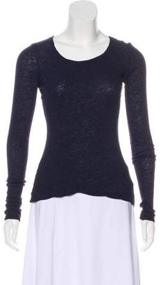 James Perse Long Sleeve Knit Top