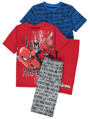 George Marvel Comics Spider-Man Pyjamas 2 Pack