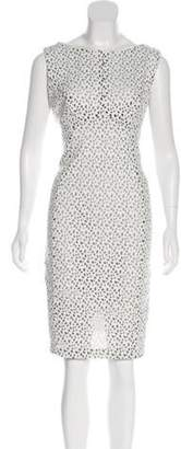 Karl Lagerfeld Paris Laser Cut Sleeveless Dress Laser Cut Sleeveless Dress