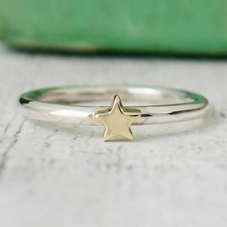 ec368583fe8e0c Alison Moore Designs Handmade Silver And Gold Star Ring
